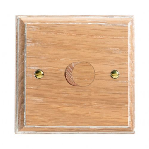 Varilight HK3LO Kilnwood Limed Oak 1 Gang 2-Way Push-On/Off Dimmer 60-400W V-Dim